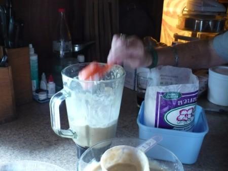 Add ingredients into blender.