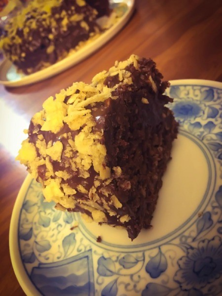 Peanut Potato Chip Chocolate Stout Cake