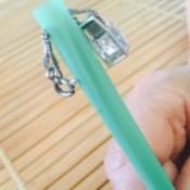 Straw Pendant Necklace Holder