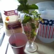 Piña Colada and Mint Water