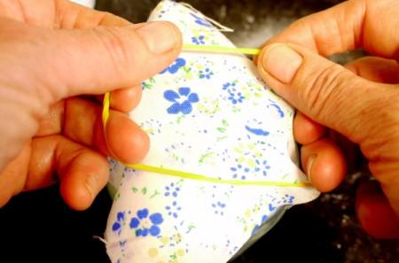 Natural Air Freshener - creating the fabric lid