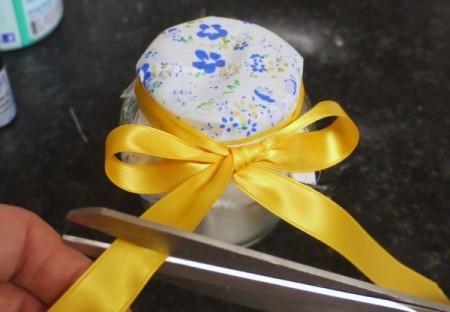 Natural Air Freshener - adding a yellow ribbon
