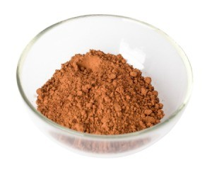 Cocoa Powder in a glass bowl