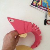 flexible paper fish