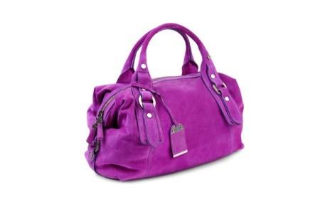 Purple suede purse