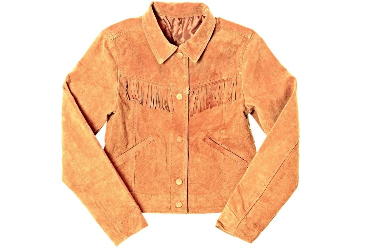 8896d663 Camel colored suede jacket with fringe