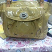 black marks on purse
