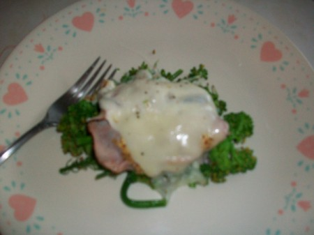 Simple Broccoli and Ham Dinner