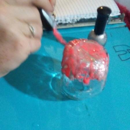 Nail Polish Dipped Jar