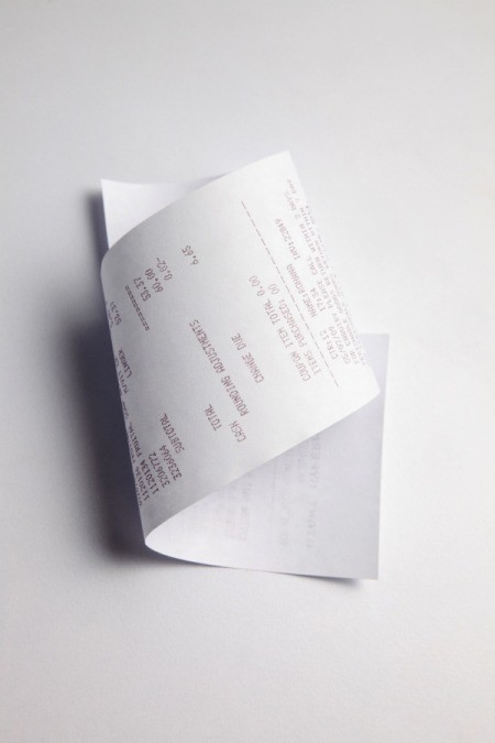 Check Fast Food Receipts for Survey