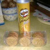 Pringles can and package of crackers