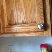 dark stains on cupboard door