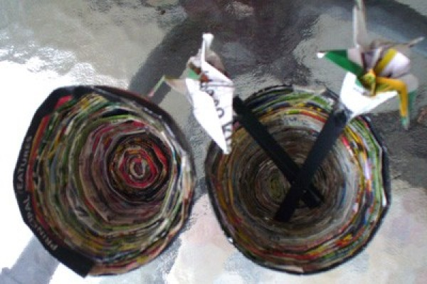Recycled Paper Pottery