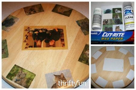 Decoupaging Photos on Wood