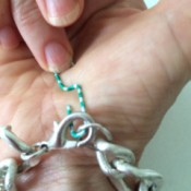 paperclip to latch bracelet