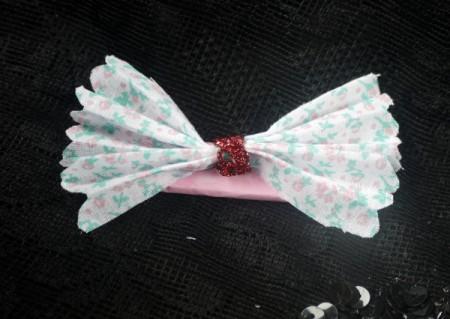 Floral Bow Fridge Magnet