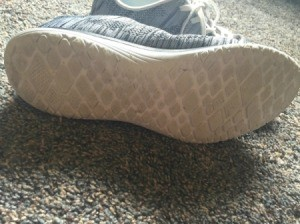 dirty white sole on shoe