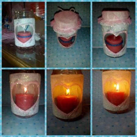 Homemade Scented Candle-in-a-Jar Decoration