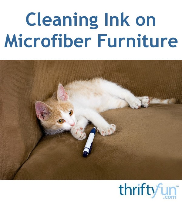 Stupendous Cleaning Ink On Microfiber Furniture Thriftyfun Creativecarmelina Interior Chair Design Creativecarmelinacom