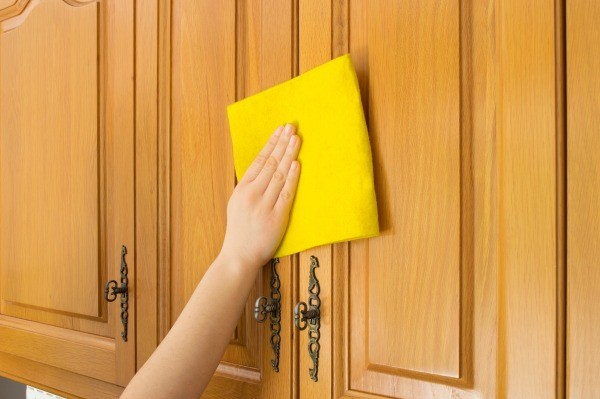how to clean stained kitchen cabinets cleaning wood cabinets thriftyfun 8582