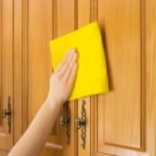 Cleaning Cabinets with Zout
