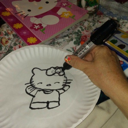 Coloring Book and Watercolor Paper Plate Craft