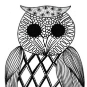 Who-hoo Goes There - Adult Coloring Page