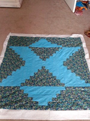 quilt in process