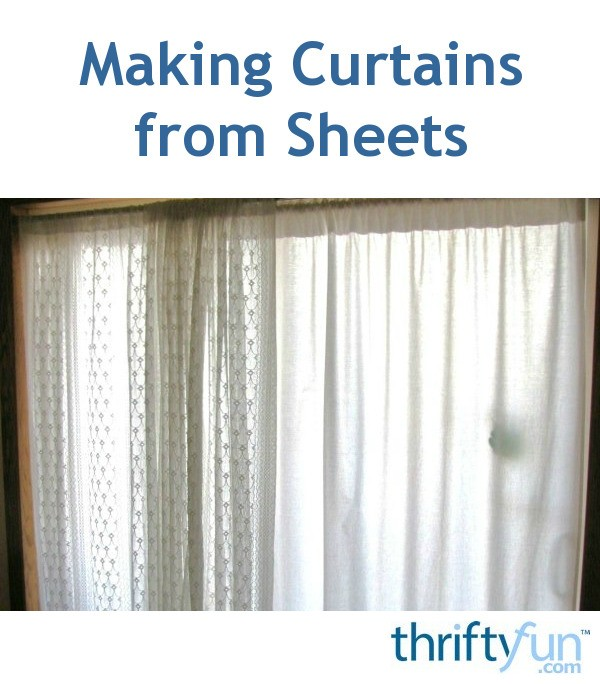 making curtains from sheets thriftyfun. Black Bedroom Furniture Sets. Home Design Ideas