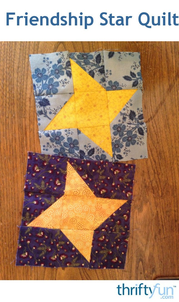 6 Inch Friendship Star Quilt Block Thriftyfun