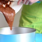 Mixing Chocolate Cake