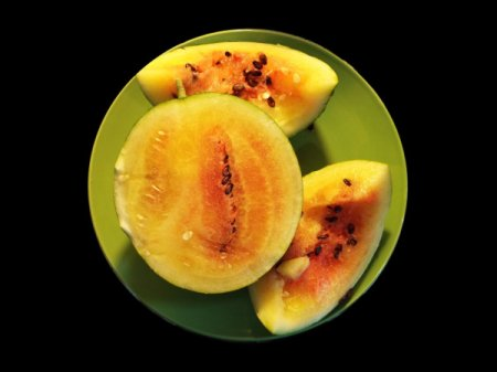 watermelon with yellow and red flesh