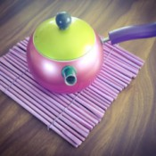 painted chopstick trivet