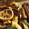 Close up of cinnamon and orange potpouri