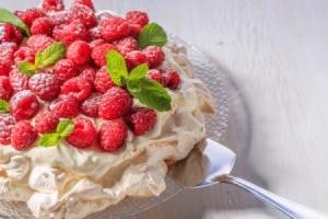 Vanilla Raspberry Pavlova