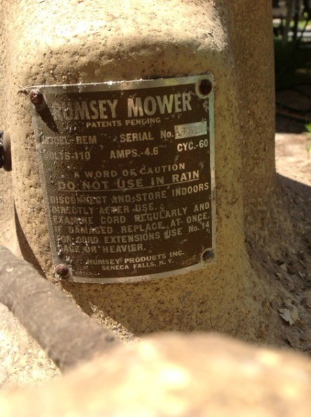 Value of a Rumsey Electric Lawn Mower