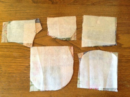 Pieced Scrap Fabric Yo Yos