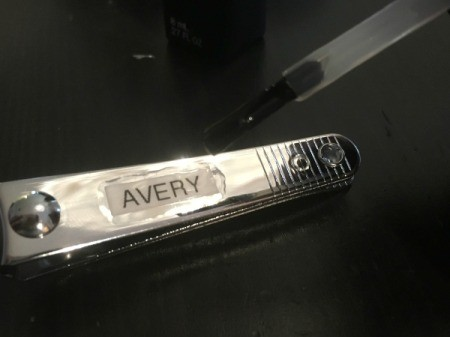Labeling Nail Clippers and Tweezers