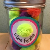 warm fuzzies jar