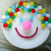 clown paper plate face
