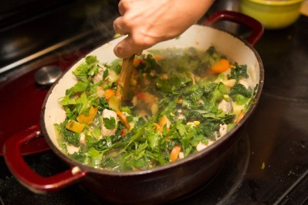 Stirring Pork and Vegetable Harvest Stew