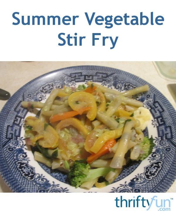 Summer Vegetable Stir Fry | ThriftyFun