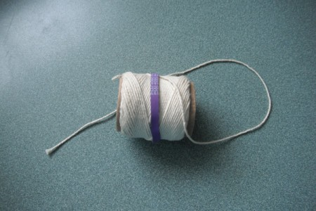 Rubber Band to Hold Ball of Twine