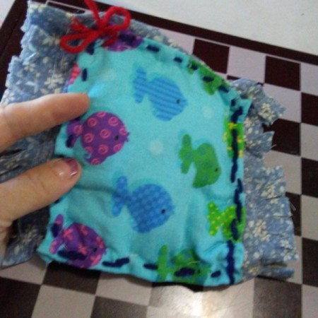 Quilted Dishcloth Made from Washcloth