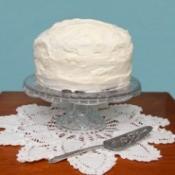 White Frosting on Cake