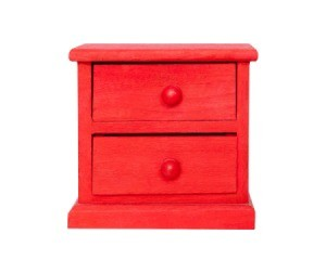 Small night stand painted red