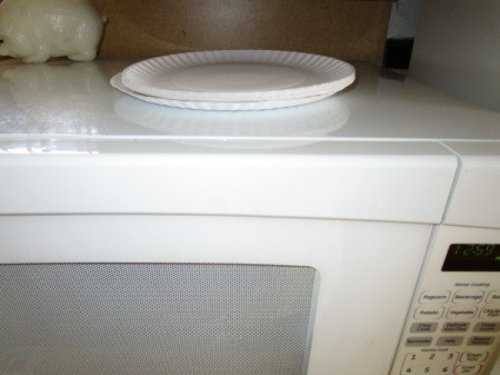 Paper Plates as Microwave Helper