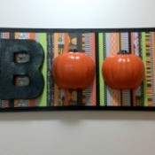 BOO Pumpkin Sign