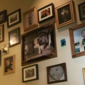 Wall of family photos