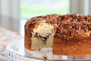 Layered bundt pan shaped coffee cake